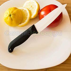12,7 см. Керамичен нож с бяло острие и ABS дръжка