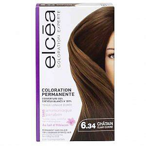 Безамонячна боя за коса Elcea цвят светло кестеняво медно 6.34