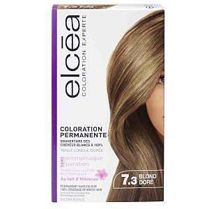 Безамонячна боя за коса Elcea цвят русо златисто 7.3