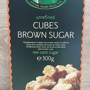 "Нерафинирана кафява захар на бучки ""Passiflora"" 300гр"