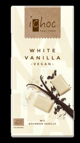 Био бял шоколад с оризово мляко и бурбнска ванилия Веган, 80 гр