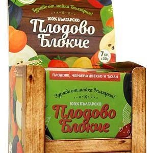Сурово плодово блокче от натурални сушени плодове - кутия 7 бр